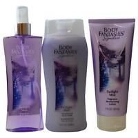 Body Fantasies Twilight Body Spray 8 Oz & Body Lotion 7 Oz & Body Wash 12 Oz on Sale