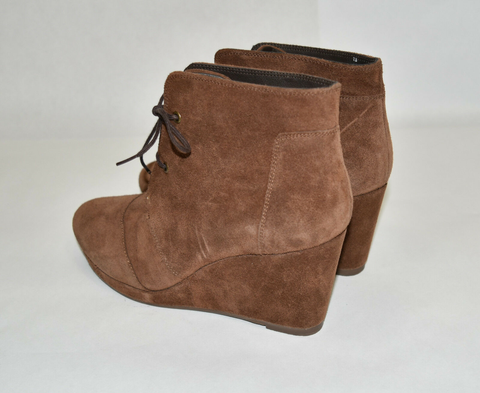 New! Blondo Paige Waterproof Wedge Suede Bootie Lace up Brown Suede Wedge Platform Size 7.5 faca2f