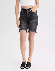 American-eagle-Brand-new-90s-Boyfriend-Black-Wash-Denim-Bermuda-Shorts