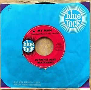 DETROIT-SOUL-45-JOHNNIE-MAE-MATTHEWS-I-Can-039-t-Live-Without-You-My-Man-BLUE-ROCK