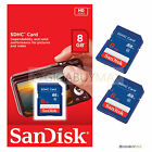 2 x 8GB Sandisk Class 4 SDHC SD Flash Memory Card Camera SDSDB-008G-B35 Lot