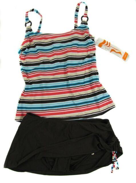 P158 Christina Size 10  12 14 16 18 20  22 Skirtini Tankini  Swimsuit  Fit D Cup