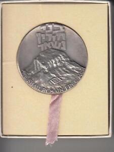 Israel-1970-Masada-Shall-Not-Fall-Again-State-Medal-45mm-46g-Silver-935-Box-1