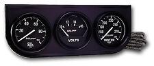 Auto Meter Autogage Oil /Volt /Water Trio Gauge Black Console 2-1/16 in. (52mm)