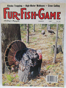 Fur fish game magazine march 1987 alaska trapping high for Fur fish and game