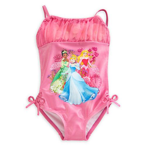 NWT Disney Store Princess Deluxe Swimsuit Tiana Aurora Cinderella Girl 4