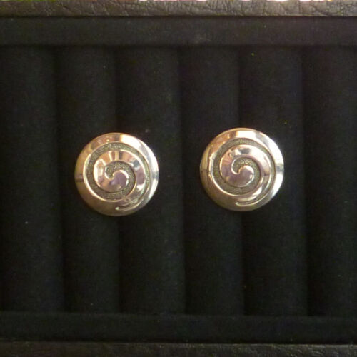 Vintage ca. 1950s sterling silver and steel swirl