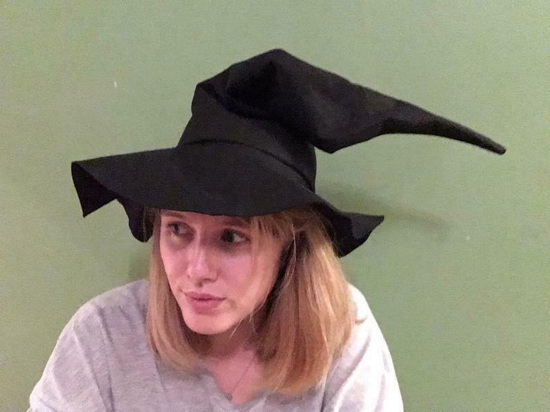 Made to order witch wizard hat.
