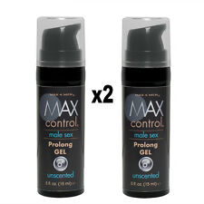 2x MAX 4 MEN CONTROL PROLONG GEL .5oz - Male Desensitizer Enhancement Lube