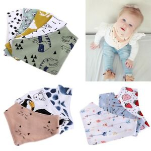 Infant-Baby-Unisex-Bibs-Feeding-Saliva-Towel-Dribble-Triangle-Bandana-Head-Scarf