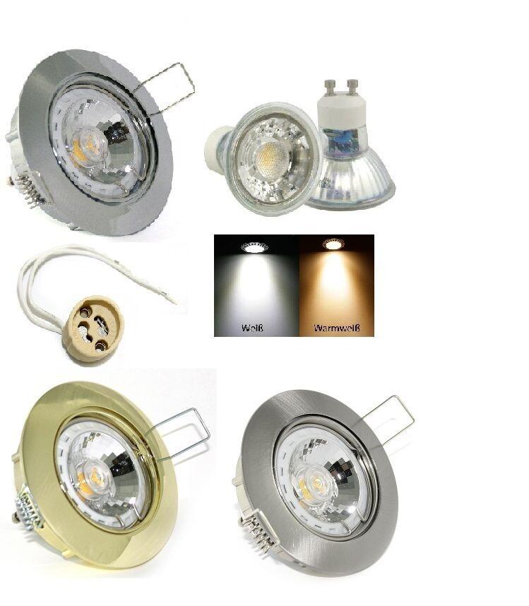 Hohlraum Einbauspot Lisa mit Gu10 5W COB LED Leuchtmittel Dimmbar 230Volt