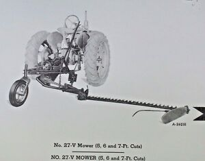 Details about IH McCormick Farmall No 27-V Universal Mount Rear Sickle Bar  Mower Parts Catalog