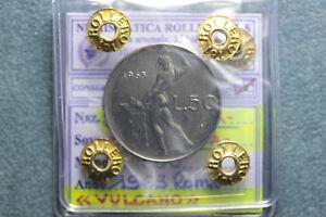 "*161* Repubblica Italiana - 50 Lire 1963 Roma ""vulcano"" I° Tipo Fdc Convient Aux Hommes, Femmes Et Enfants"