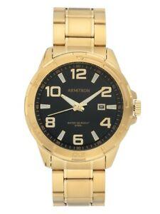 Armitron-20-5392BKGPWM-Men-039-s-Gold-Tone-and-Black-Calendar-Dress-Watch