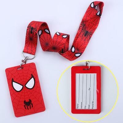 Spider-Man Lanyard NEW  UK Seller Keyring ID Holder Phone Strap Man Spiderman