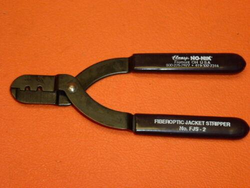NEW Clauss FIBEROPTIC JACKET STRIPPER 1.25mm // 1.50mm Diameter Model: FJS-2