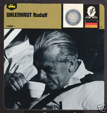 RUDOLF UHLENHAUT Mercedes Race Car Maker 1978 BIO CARD