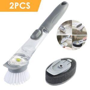 Kitchen-Long-Handle-Sponge-Brush-Dish-Bowl-Cup-Washing-Cleaning-Cleaner-Tool-Set