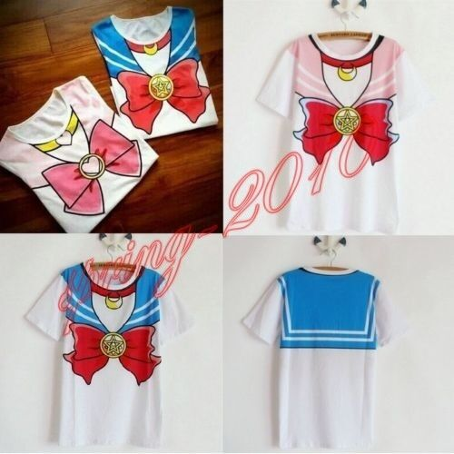 Anime Sailor Moon / Chibimoon Cosplay Costume Tops Women T-shirt Size S M L XL