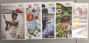 Lot of 5 Nintendo Wii Games! Expand your collection!