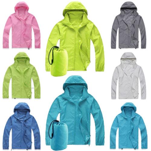Unisex Jogging Running Waterproof Windproof Jacket Lightweight Hooded Raincoat