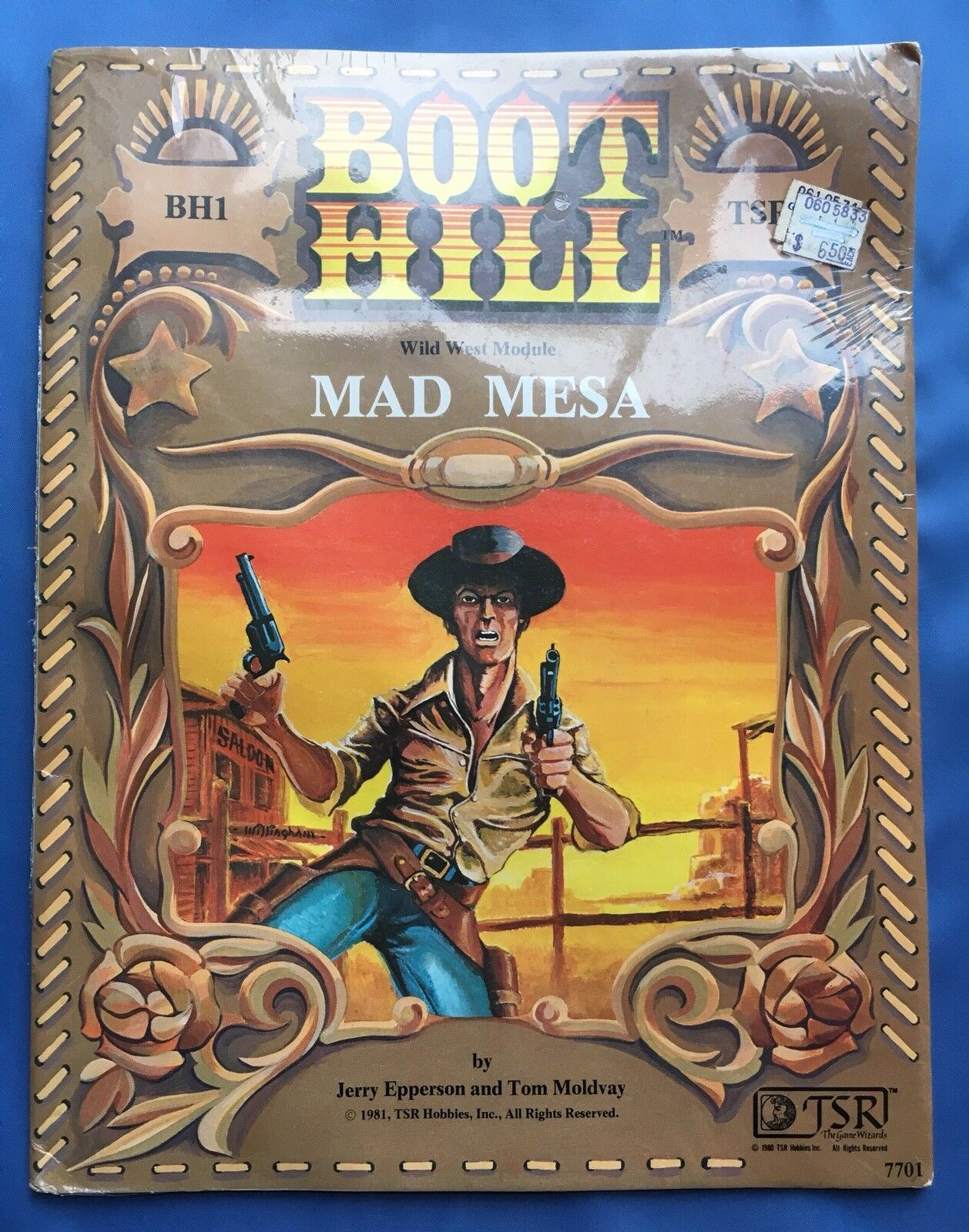 Mad Mesa - Boot Hill Wild West Module BH1 cowboy roleplaying RPG TSR BH1