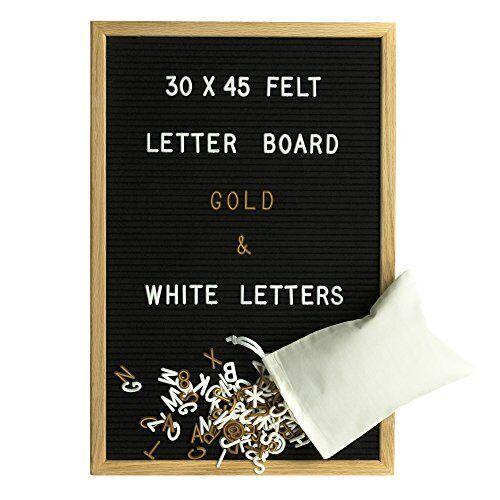 Gadgy Feltro Letter Board 30x45 cm   Retro Lavagna con Lettere di Legno   (u9Y)