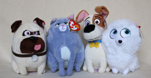 Ty Plush Secret Life Of Pets Movie Figures Stuffed Animal Beanie Babies Lot 4
