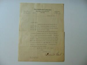 034-Editor-034-Lawrence-Fraser-Abbott-hand-Signed-TLS-Dated-1922-JG-Autographs-COA