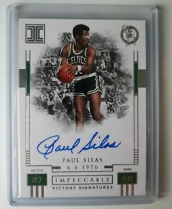 Paul Silas Impeccable Victory Signatures Card #47/99- 2017/2018 Panini