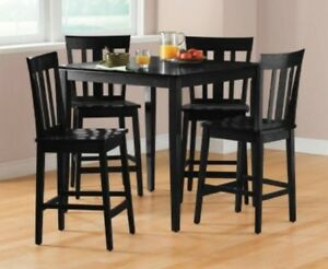 Details About Dining Table Set Dinning Room Sets Counter Height Chairs Square Wood Modern Nook