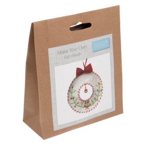 Make Your Own Felt Wreath Tree Decoration Kit Trimits Christmas Crafts GCK003