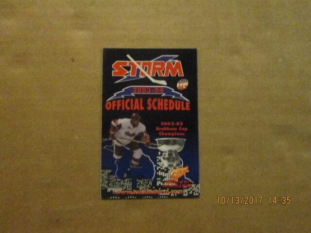 ECHL Toledo Storm Vintage 2003-04 Brabham Cup Champions Hockey Pocket Schedule
