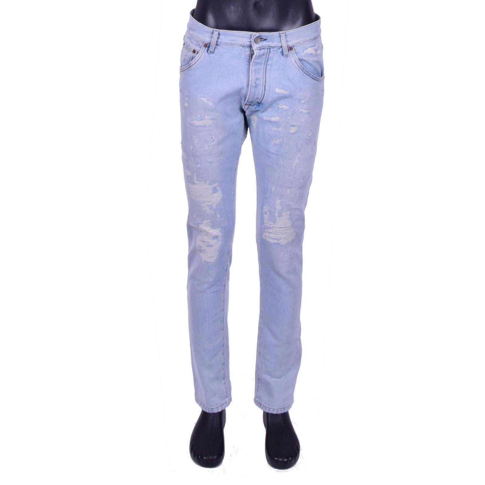 DOLCE & GABBANA Jeans aus Denim Hellblau im Destroyed Look Modell Capri IT 46 S