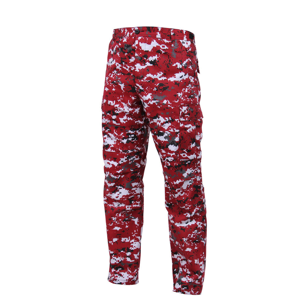 DIGITAL Red Camo BDU Cargo Pants Indians Red Sox Cardinals Reds Phillies Angels
