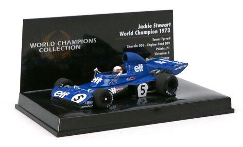 Minichamps Tyrrell 006 1973 Jackie Stewart campeón mundial escala 1//43