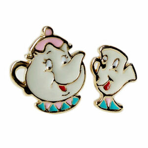 cd8538bda Beauty and The Beast Mrs Potts Teapot & Chip Stud Earrings ~ Gift ...