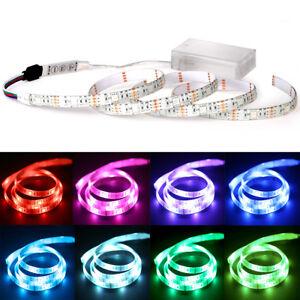 led stripe lichterband lichterkette leucht streifen leiste batterie wasserfest ebay. Black Bedroom Furniture Sets. Home Design Ideas