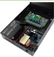 4 Door Access Control Panel Board W/ Power Supply Box 12v 7ah Battery Incl Locks