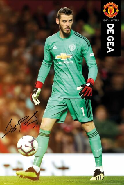 various colors f984a 6c019 David De Gea SIGNATURE Manchester United FC Goalkeeper Soccer Action POSTER