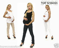 Women Maternity Skinny Trousers Jeans Over Bump Pregnancy Clothes Size 8 to 22