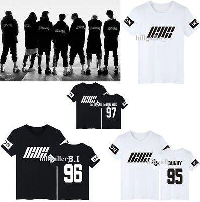 KPOP IKON T-shirt WELCOME BACK T-shirt Bobby Unisex Cotton Tee Tops Chan Woo