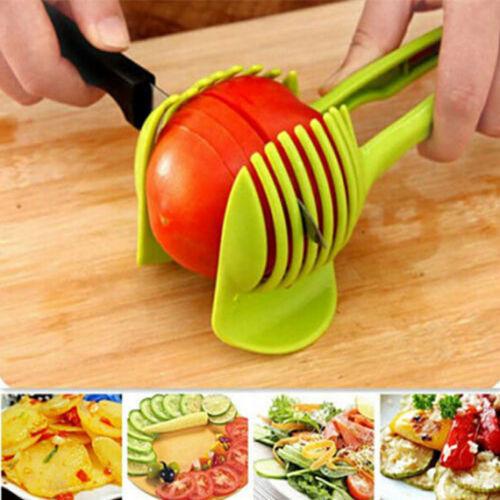 Hot Kitchen Tomato Potato Slicer Clip Holder Fruit Lemon Vegetable Cutter Tools