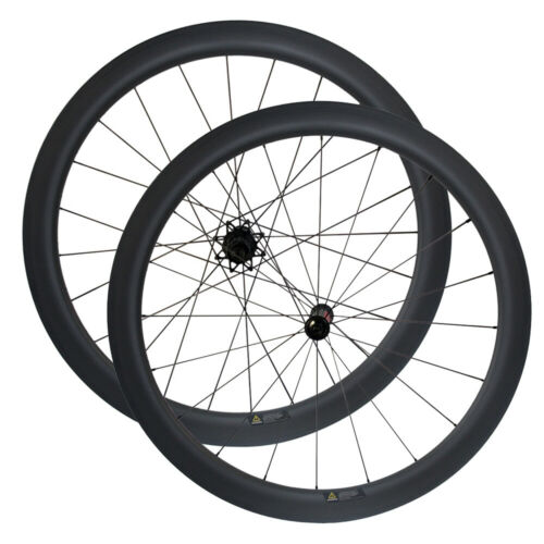 Road Bike Wheelset with RS330 V-brake Hub 700C Carbon Rim Clincher//Tubular