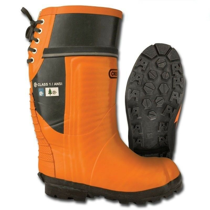 New Oregon 535362 Safety CHAINSAW FORESTRY BOOTS Rubber Top - Lug Sole