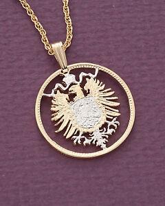 Germany-Phoenix-Pendant-Necklace-German-Coin-Hand-Cut-7-8-034-diameter-115