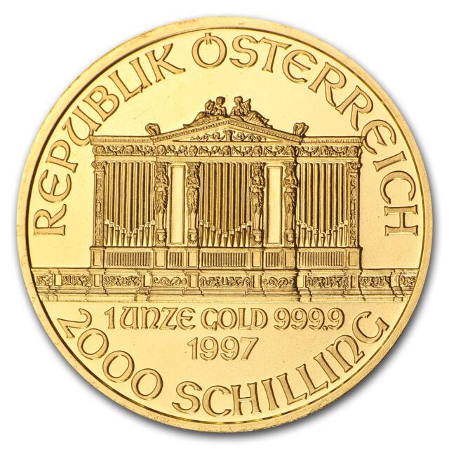 1997 Austria 1 oz Gold Philharmonic BU - SKU #74670