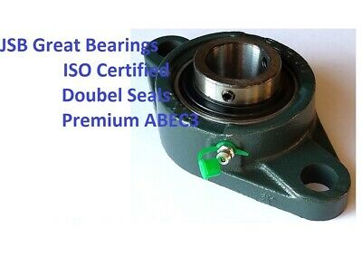 Premium UCFL208-24 double seals ABEC3 oval flange bearings 1-1//2 bore UCFL208 24