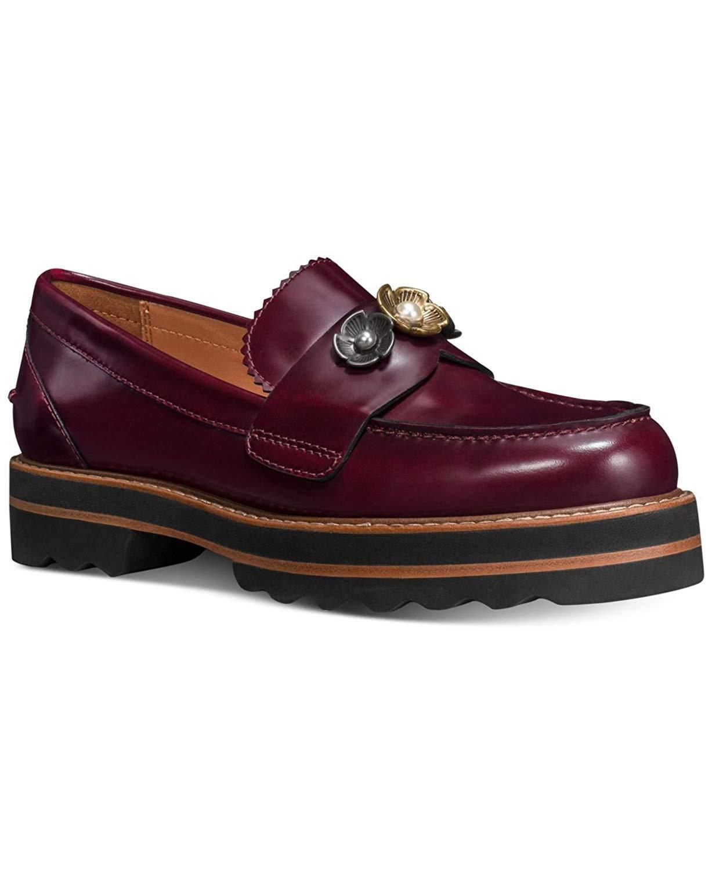 Entrenador Para mujeres Cuero Moda Zapatos de plataforma Slip Slip Slip On Lenox Mocasín Cabernet  entrega rápida