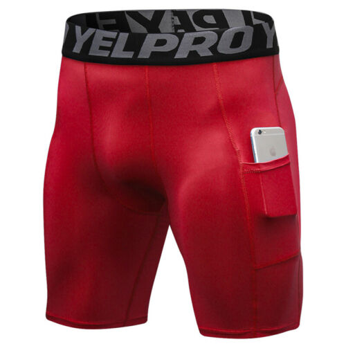 Men/'s Athletic Compression Shorts with Pockets Cool Dry Sport Tights for Running
